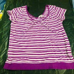 🌼5/$20🌼 Garage Purple Striped Top